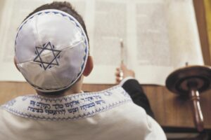 jewish boy studying, as the Book of Daniel is in the Old Testament