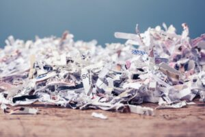shredded paper, to show that losing your salvation is possible by shredding it