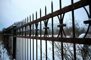 fence, showing that nobody can take your salvation away